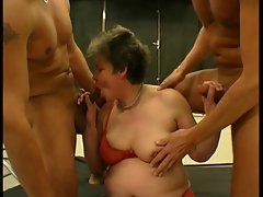 Threesome, Granny Slut & 2 Studs