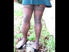 TGirl Lace Stockings & Mini Skirt 328