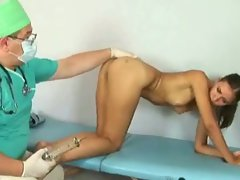 Nasty gynecologist examines 19 y.o. girl lena