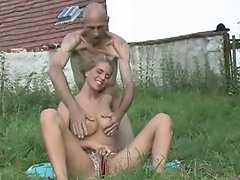 Old fucker gets his hands on czech teen babe