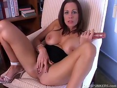 Beautiful big tits brunette milf has a sexy body and nice wet pussy