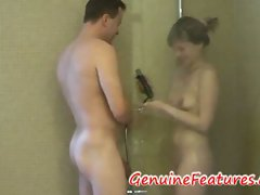 Blonde teen showers with big cock guy