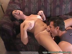 Busty wife loves intense pussy eating