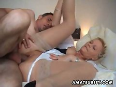 Amateur wife sucks and fucks her hubby on the camcorder