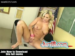 Blonde bree olson masturbates on the teacher's desk