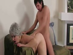 Chubby granny gets hammered and a cumshot
