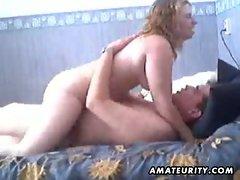 Chubby amateur girlfriend homemade fuck on webcam