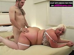Bbw blonde daphnee gets hammered