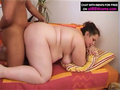 Brunette bbw teri gets banged and a facial