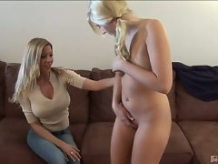 Kylee reese gets seduced by busty blonde milf