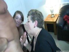 Mature and girl blow-job 5
