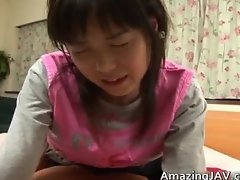 Pretty asian schoolgirl gets a warm part4