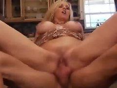 Busty Blonde MILF Julia Ann Is Horny and Has Hot Sex In Kitchen