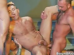 Extreme gay BDSM orgy video part4