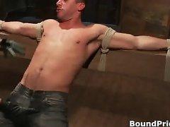 Logan bound and tortured gay BDSM porn part2