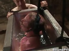 Dude bound and put inside water tank gay part5