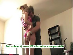 Riley angelic blonde girl kissing and getting her pussy fingered