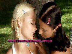 Melanie and Jenny lesbian teen girls licking