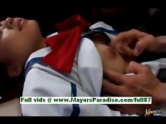 Miyu hosino teen japanese schoolgirl gets her tits licked