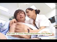 Rio innocent asian nurse enjoys doing handjob