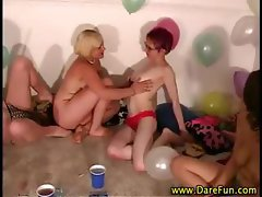 Real all girl party gets hot