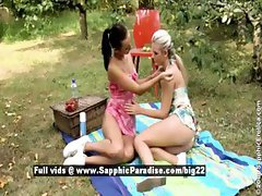 Devin and Sharon from sapphic erotica lesbian girls undressing