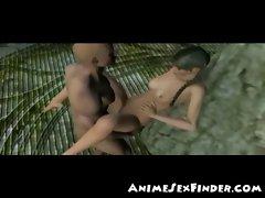 3D Elven Teen Losing Virginity