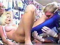 Blonde wants monster dildo