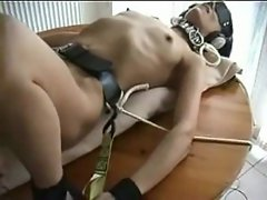 Opal tied and dildofucked