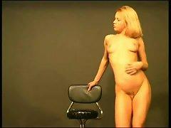 Pretty blonde undressing