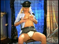 Horny blond cop