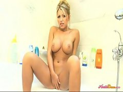 Anette masturbating in bathtub