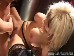 Blonde nailed on table