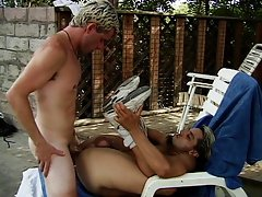 Two figging dudes at the pool