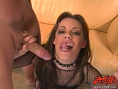 Hottie Gia Palome gets a fresh load of jizz popped on her face