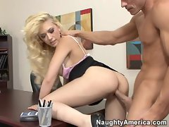 Kagney Karter wet pussy gets drilled doggystyle deep and hard
