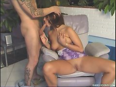 Simony Diamond gets her fun out on some mans personal jewels