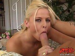 Suck slut Bobbi Eden is nasty sucks a fat cock with her pretty lips and mouth