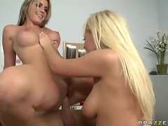 Naughty lesbians Courtney Cummz and Angelina Ash gets drilled in hospital