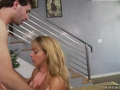 Shayla Laveaux had a meaty pole on her mouth as she feels horny