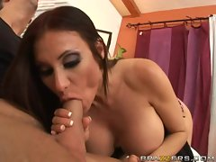 Milf whore Sheila Marie delights in stuffing her warm mouth with a big dick