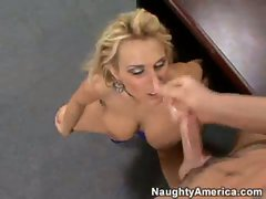 Cum crazy Holly Halston gets a creamy spurt of cock sauce on her filthy face