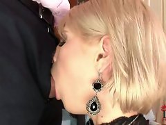 Dirty cum whore Wiska gets a huge cock shoved down her throat