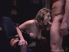 Julie Robins gets her mouth crammed with hard cock