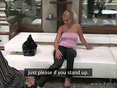 FakeAgent HD Tight blonde bombshell