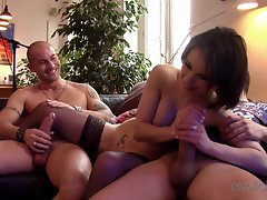 Nikita Bellucci is spoiled for choice with two big nobs