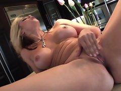 Sarah Vandella rams her fingers deep in her moist slot