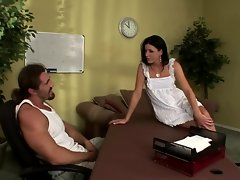 Gorgeous MILF India Summers is fucked over a desk