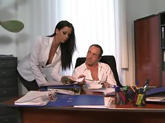 Luscious Larissa Dee is banged in the office