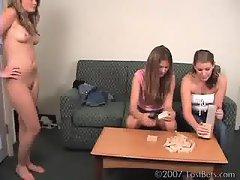 Mia Ashley and Ashton Play Strip Jenga